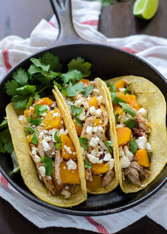 """<strong>Get the <a href=""""http://www.thelawstudentswife.com/2014/10/slow-cooker-butternut-squash-pulled-pork-tacos/"""" target=""""_"""