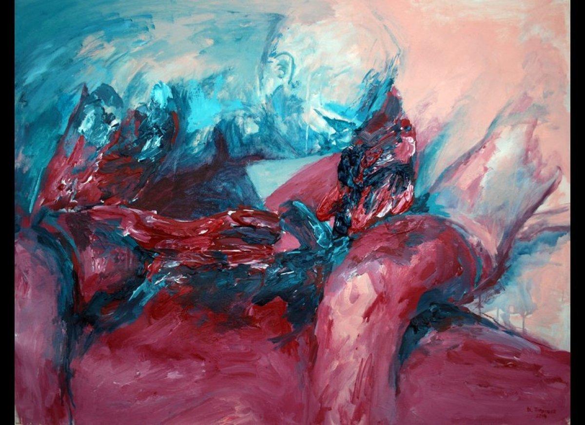 """Confirmation"" by <a href=""http://ntintamusik.format.com/"" target=""_hplink"">Narong Tintamusik</a> (2014, acrylic on Coventry"