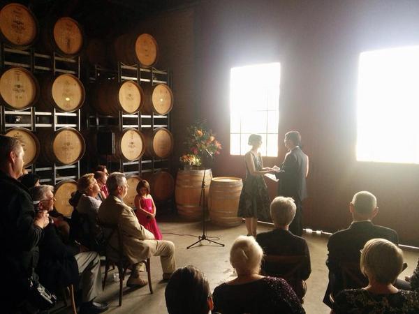 """""""Fabulous wedding at Australian winery Curly Flat."""" - Jane Wardell"""