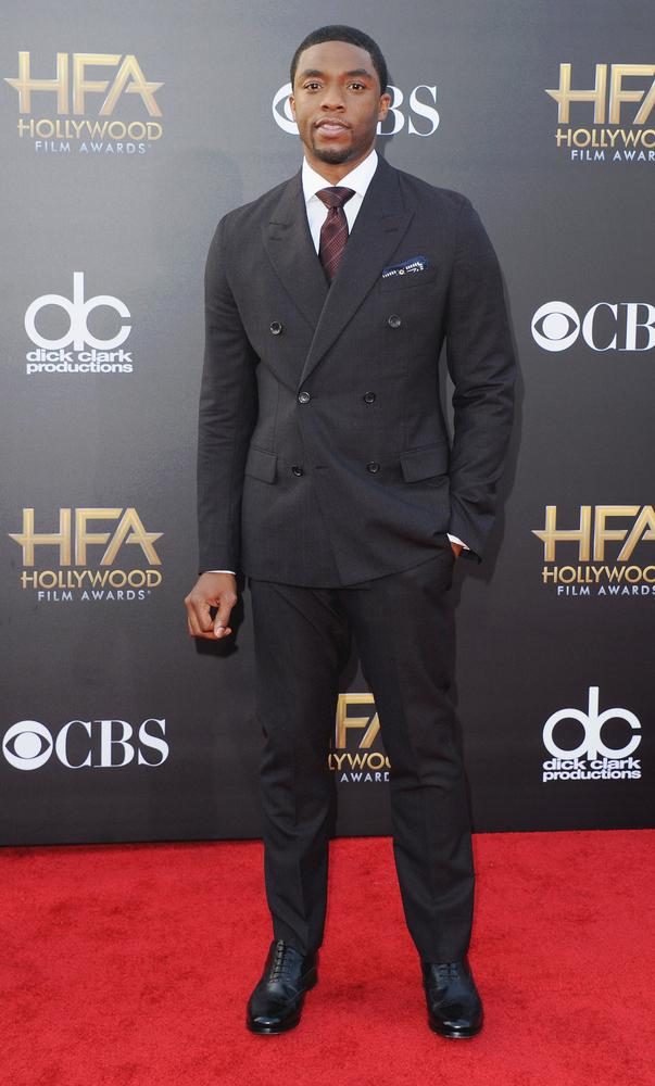 HOLLYWOOD, CA - NOVEMBER 14:  Actor Chadwick Boseman arrives at the 18th Annual Hollywood Film Awards at Hollywood Palladium