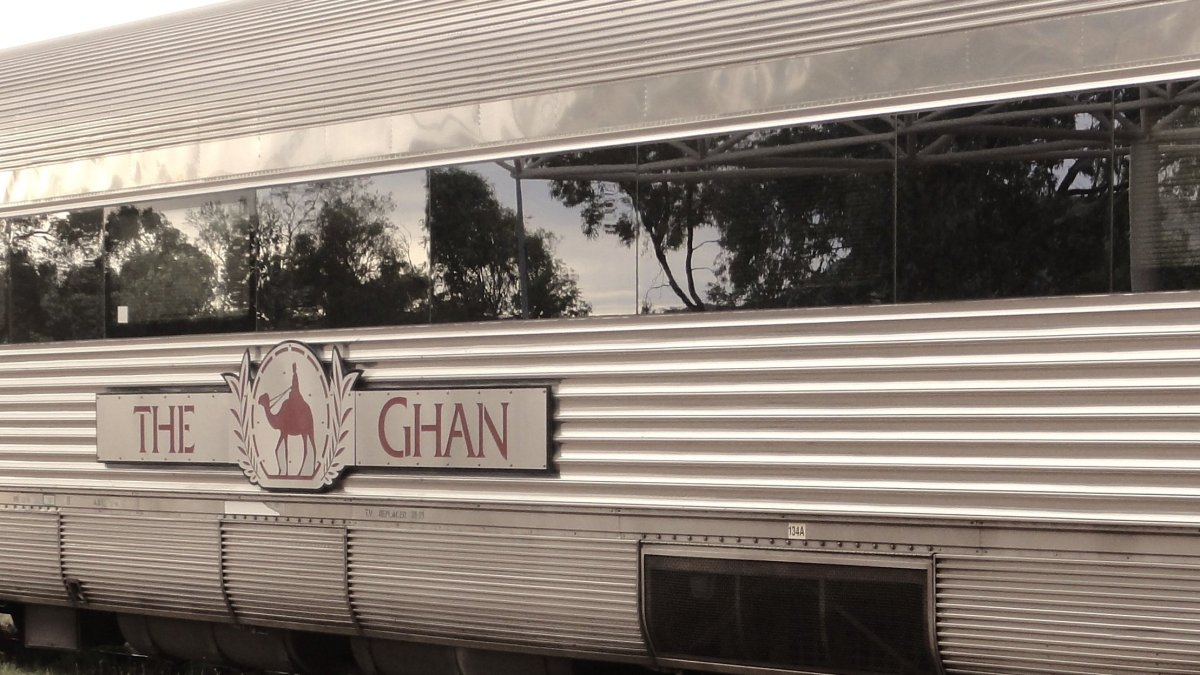 """Luxury train traveling through the """"Red Centre"""" of Australia.  I was in the Gold car service and thought I died and went to h"""