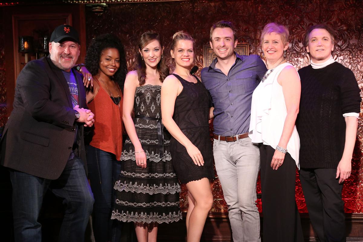 NEW YORK, NY - NOVEMBER 24:  Frank Wildhorn, Adrienne Warren, Laura Osnes, Amy Spanger, James Snyder, Liz Callaway, and Charl