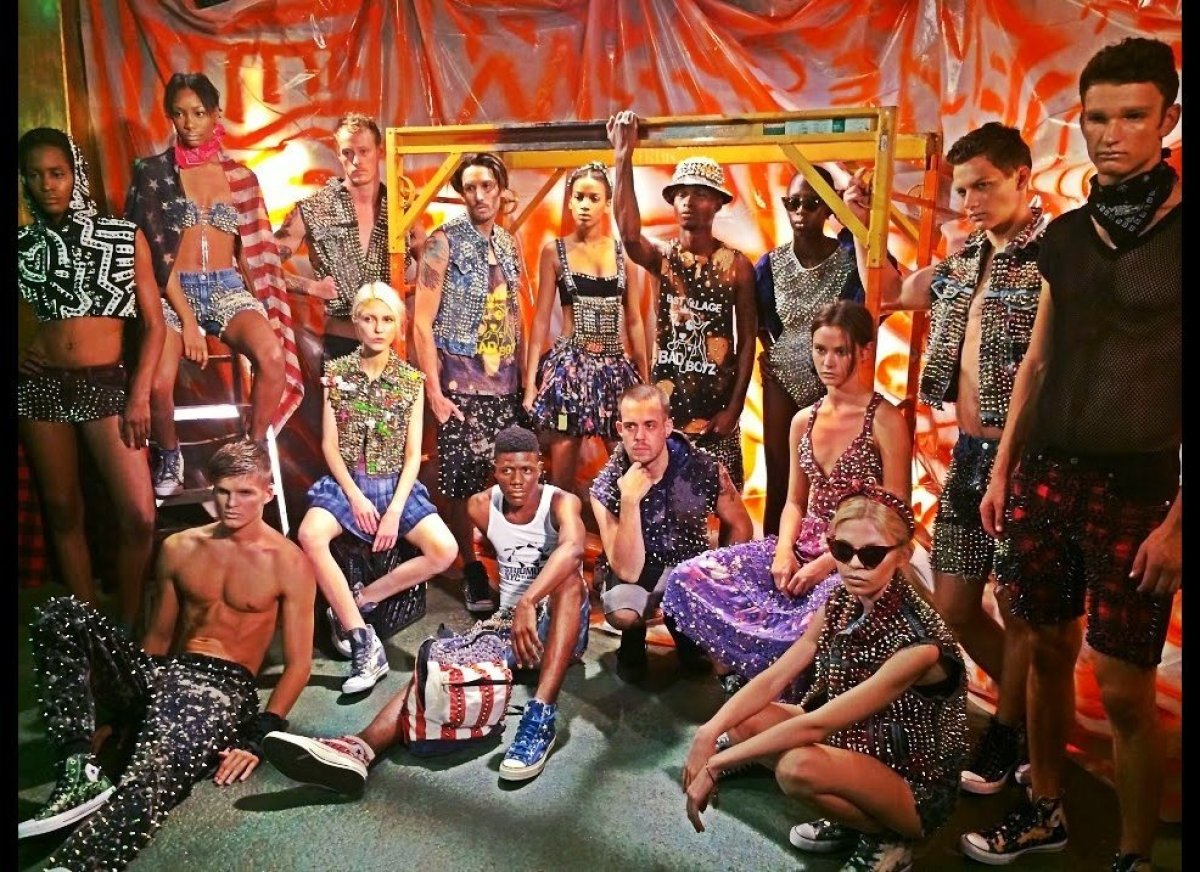 """Kyle Brincefield and models at the Studmuffin NYC Spring/Summer 2015 fashion show (photo credit: <a href=""""http://www.marsindi"""