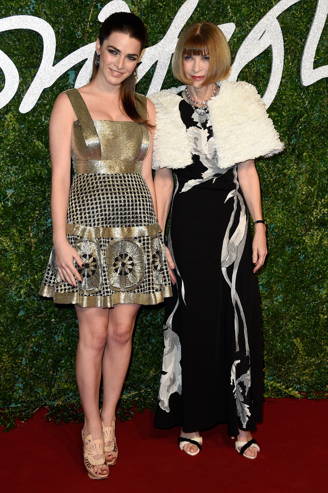 LONDON, ENGLAND - DECEMBER 01:  Anna Wintour and daughter Bee Shaffer attend the British Fashion Awards at London Coliseum on