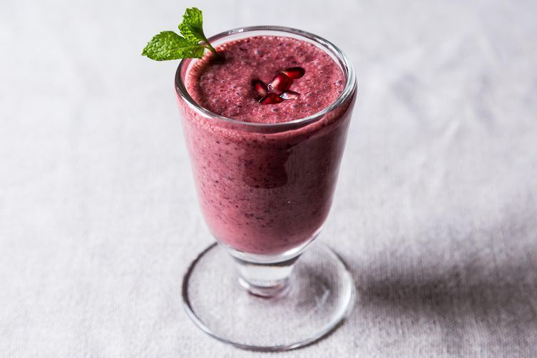 "<strong>Get the <a href=""http://food52.com/recipes/19903-triple-pomegranate-smoothie"" target=""_blank"">Triple Pomegranate Smoo"