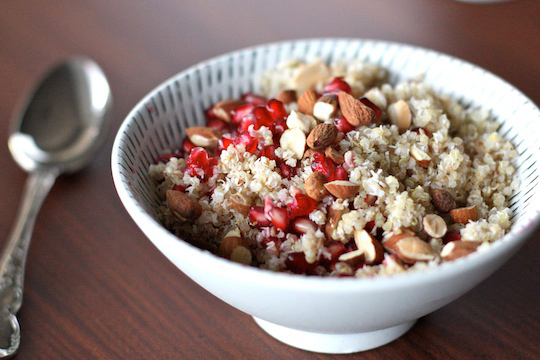 "<strong>Get the <a href=""http://edenkitchen.com/honey-coconut-quinoa-with-pomegranate/"">Honey-Coconut Quinoa with Pomegranate"