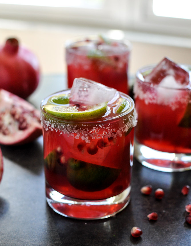 "<strong>Get the <a href=""http://www.howsweeteats.com/2012/11/pomegranate-margaritas/"" target=""_blank"">Pomegranate Margaritas"