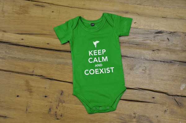 "Known for its bumper stickers, the Coexist Campaign is also selling clothing and coffee. The organization claims <a href=""htt"