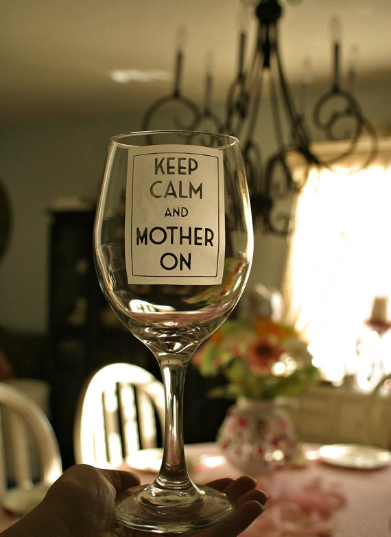 """Keep calm, parent like a total boss and don't forget to have a glass of wine.   <br><br>  Get the <a href=""""https://www.etsy.c"""