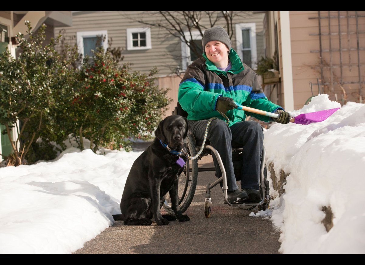 The Americans With Disabilities Act (ADA) defines service animals as dogs individually trained to do work or perform tasks fo