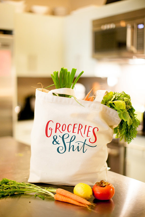 """<strong>You two can hit up the farmers market in style with this canvas tote. </strong>  Get the <a href=""""https://www.etsy.co"""