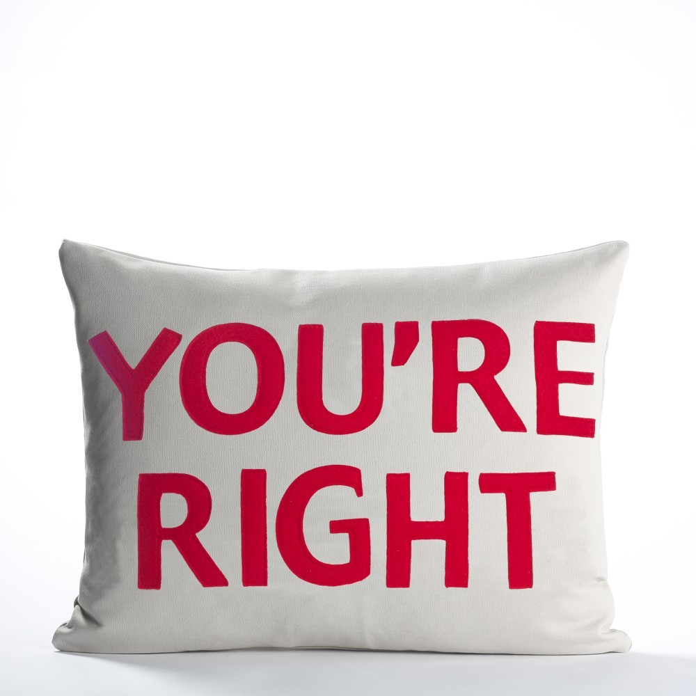 """<strong>A decorative pillow to end any argument. </strong> Get the <a href=""""http://www.alexandraferguson.com/shop/gift-guides"""