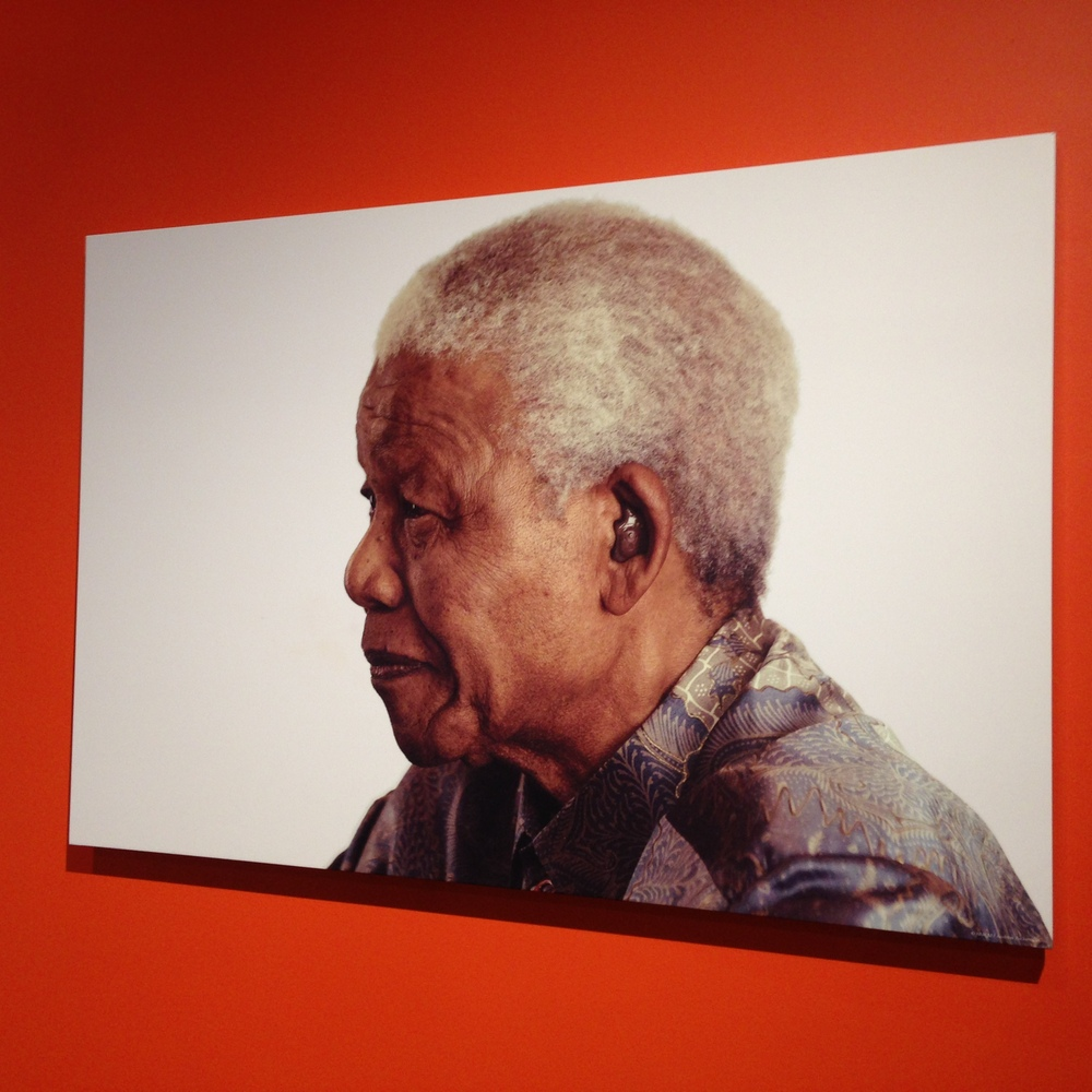 """A powerful portrait of Nelson Mandela is hung on the walls of the <a href=""""http://archive.nelsonmandela.org/home"""" target=""""_bl"""