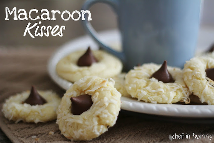 """<strong>Get the <a href=""""http://www.chef-in-training.com/2012/03/macaroon-kisses-almond-joy-cookies/"""" target=""""_blank"""">Macaroo"""