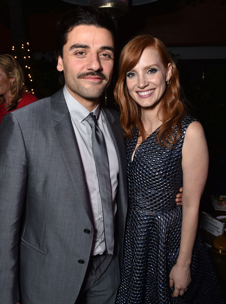 "Oscar Isaac and Jessica Chastain attend the 2014 AFI Fest - ""A Most Violent Year"" after party at the Roosevelt Hotel on Thurs"