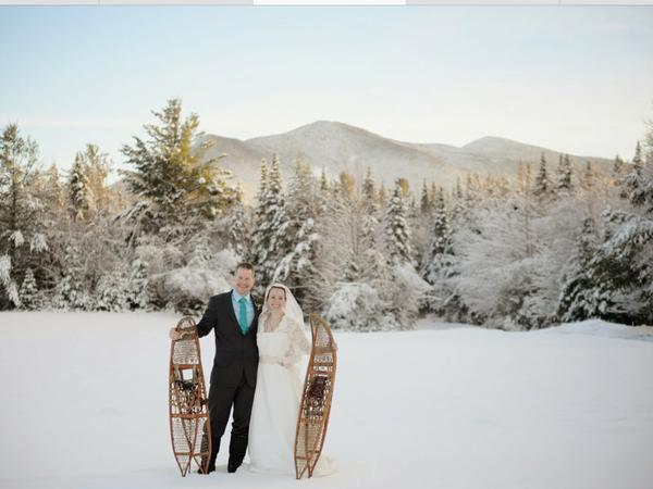 """New Hampshire winter wonderland wedding."" - Shelley Thompson"