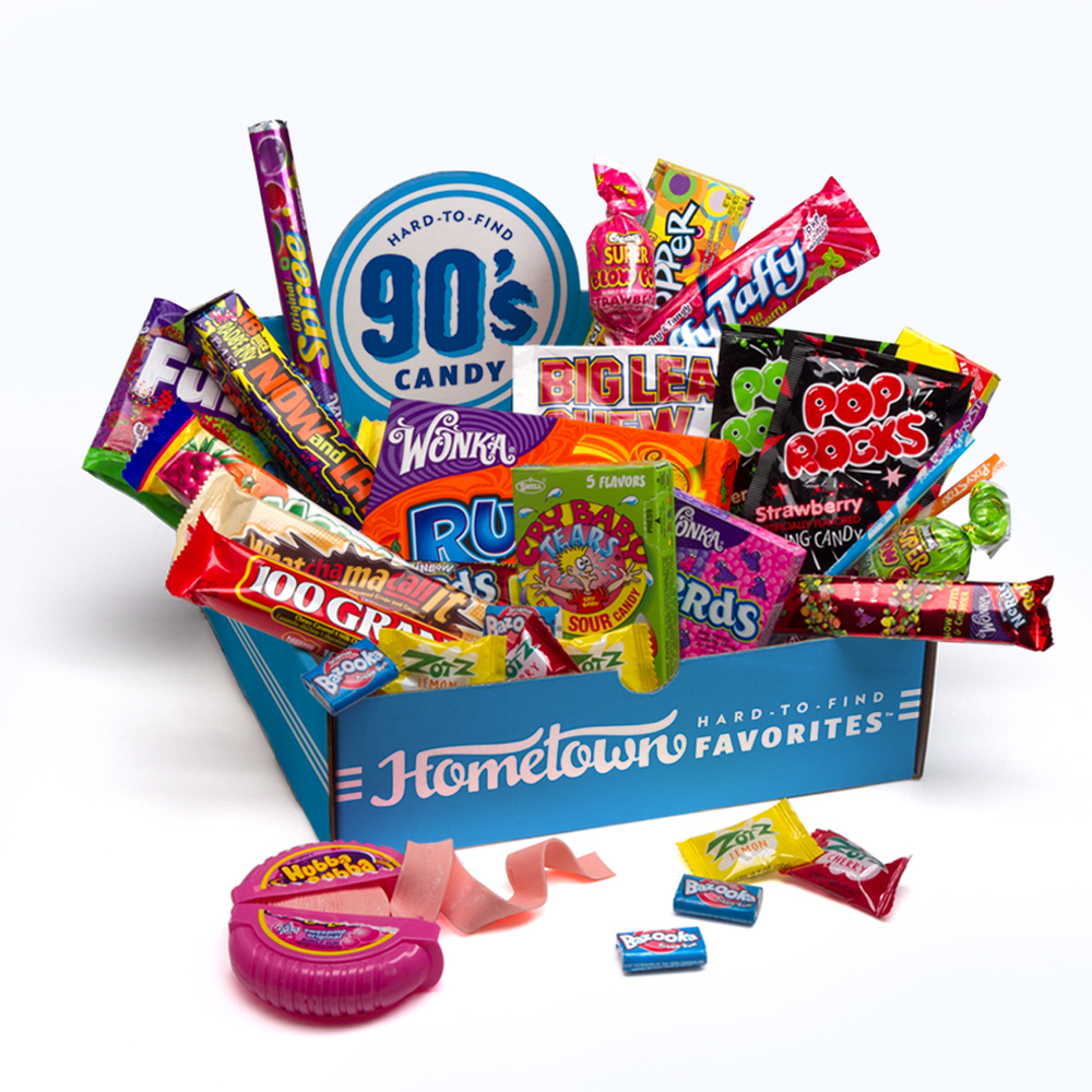 """Get a <a href=""""http://www.hometownfavorites.com/category/unique-candy-gifts/"""" target=""""_blank"""">Hometown Favorites Decades Cand"""
