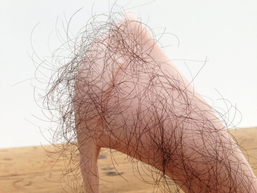 Zhu Tian 'Babe' 2013 Rubber, human hair, pigment, courtesy of the artist