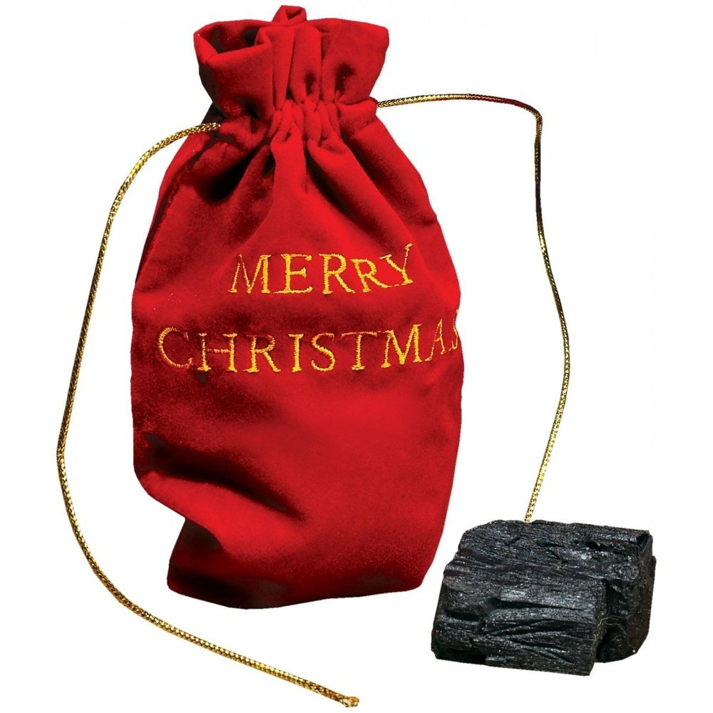 """<strong>A classic gift for a classic jerk. </strong>  Get <a href=""""http://www.amazon.com/Christmas-Lump-Coal-With-Gift/dp/B00"""