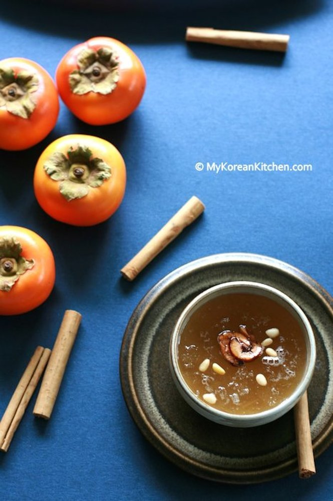 "<strong>Get the <a href=""http://mykoreankitchen.com/2013/03/20/sujeonggwa-korean-cinnamon-punch/"">Korean Cinnamon Punch recip"