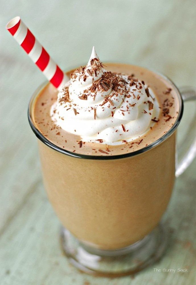 """<strong>Get the <a href=""""http://www.thegunnysack.com/2013/11/frosty-mocha-punch-to-serve-with-holiday-desserts.html"""">Frosty M"""