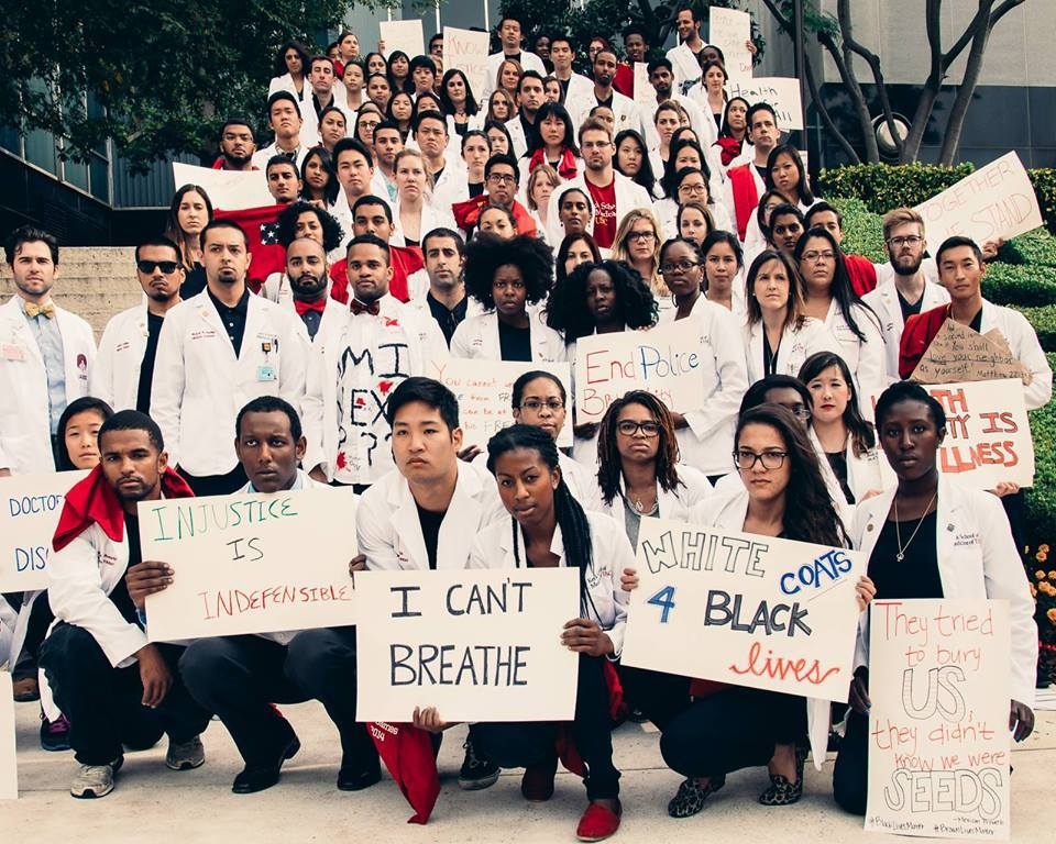 100 medical students at the USC Keck School of Medicine participated in a protest.