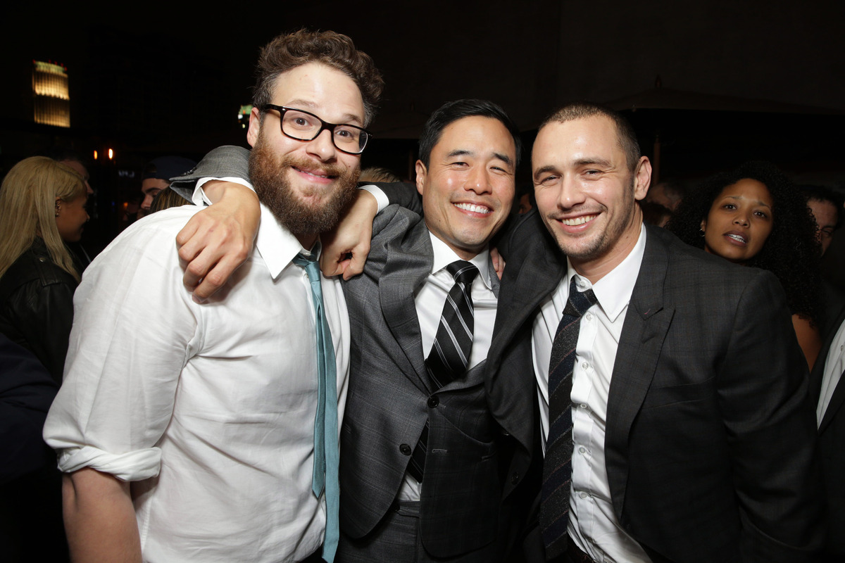 EXCLUSIVE - Director/Producer/Screenwriter Seth Rogen, Randall Park and James Franco seen at Columbia Pictures World Premiere