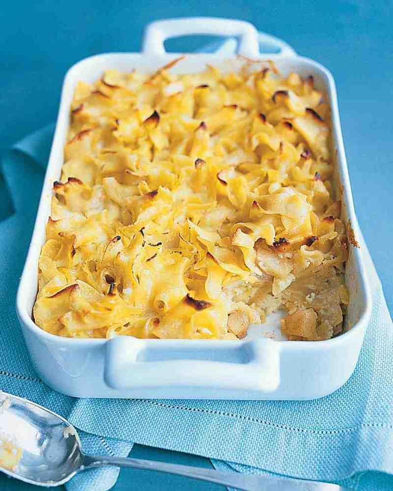 """<strong>Get the <a href=""""http://www.marthastewart.com/346796/noodle-kugel"""" target=""""_blank"""">Noodle Kugel recipe</a> from Marth"""
