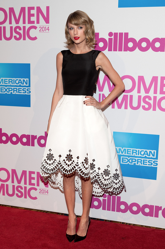 NEW YORK, NY - DECEMBER 12:  Taylor Swift attends the 2014 Billboard Women In Music Luncheon at Cipriani Wall Street on Decem