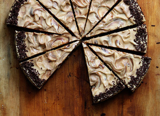 """<strong>Get the <a href=""""http://www.bakersroyale.com/brownies/biscoff-brownie-cake/"""">Biscoff Brownie Cake recipe</a> from Bak"""