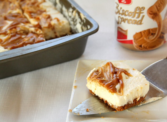 """<strong>Get the <a href=""""http://www.chocolatemoosey.com/2012/08/17/no-bake-egg-free-biscoff-swirl-cheesecake-guest-post-for-a"""
