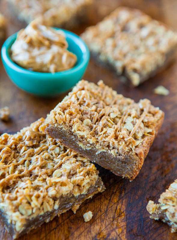"""<strong>Get the <a href=""""http://www.averiecooks.com/2013/03/cookie-butter-brown-sugar-streusel-bars.html"""" target=""""_blank"""">Coo"""