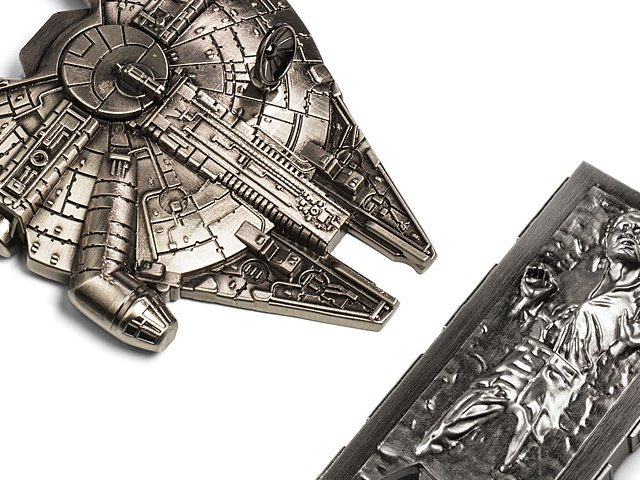 These metal bottle openers are shaped like two of the most iconic Star Wars images from the original trilogy: The Millennium