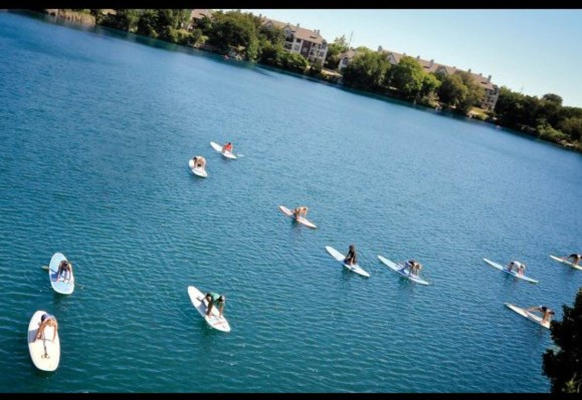 <em>Austin, Texas</em><br><br> Outdoorsy types will find a lot to love about this gym, which overlooks its own private lake,
