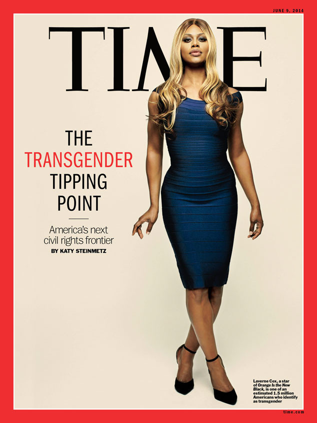 "The ""Orange Is The New Black"" star was the first transgender person to cover of TIME, appearing in the <a href=""http://www.hu"