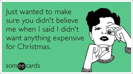 """To send this card, go <a href=""""http://www.someecards.com/christmas-cards/expensive-gift-shopping-love-christmas-holiday-funny"""