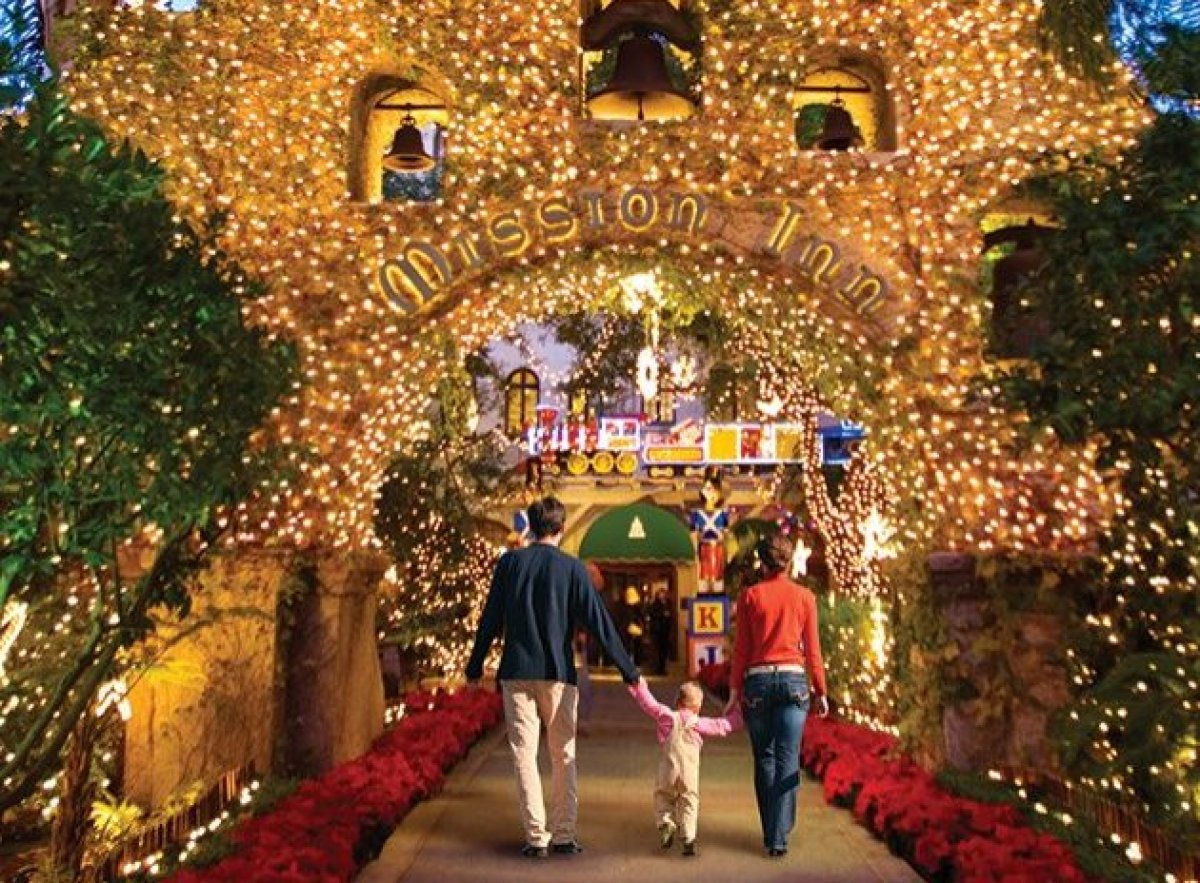 More than four million holiday lights sparkle at the historic Mission Inn come December, as part of Southern California's tra