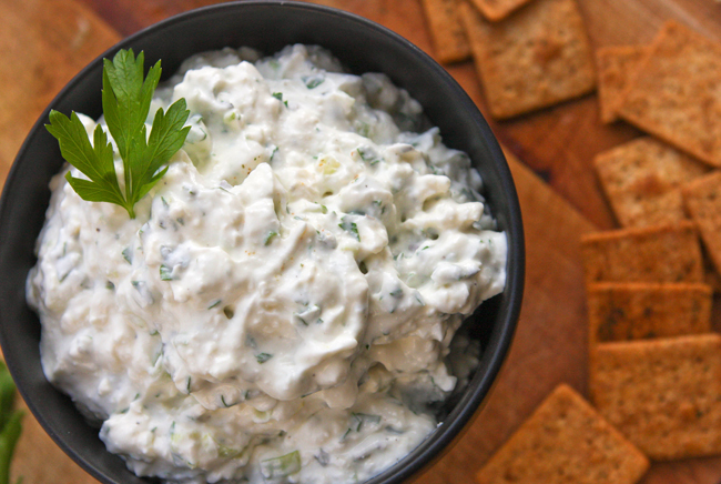 """<strong>Get the <a href=""""http://www.pipandebby.com/pip-ebby/2013/7/15/feta-dip.html"""" target=""""_blank"""">Feta Dip recipe</a> from"""