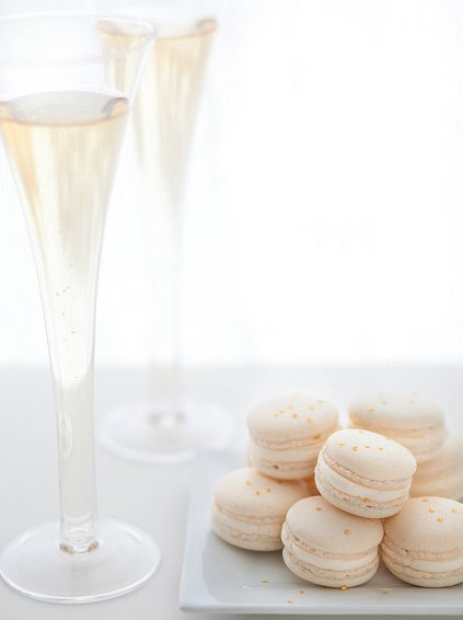 """<strong>Get the <a href=""""http://www.annies-eats.com/2012/12/31/champagne-macarons/"""" target=""""_blank"""">Champagne Macarons recipe"""