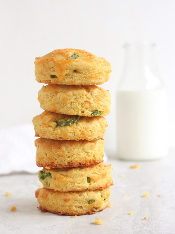 """<strong>Get the <a href=""""http://www.completelydelicious.com/2014/04/cheddar-jalapeno-cornmeal-biscuits.html"""" target=""""_blank"""">"""