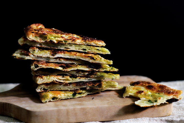 """<strong>Get the <a href=""""http://food52.com/recipes/25331-multi-layered-scallion-pancakes"""" target=""""_blank"""">Multi-Layered Scall"""