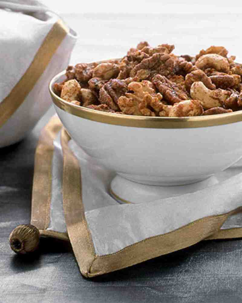 """<strong>Get the <a href=""""http://www.marthastewart.com/349611/spiced-nuts"""" target=""""_blank"""">Spiced Nuts recipe</a> from Martha"""