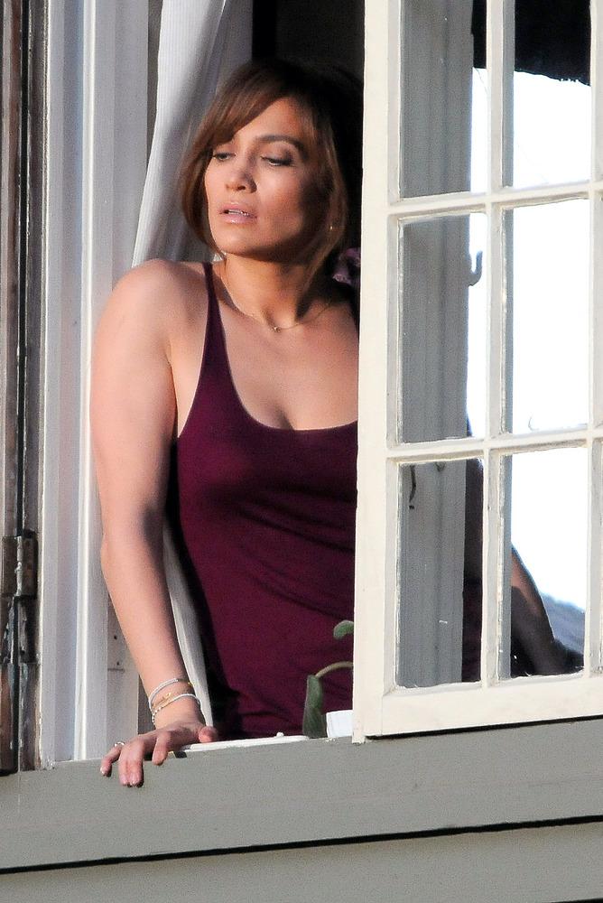 LOS ANGELES, CA - NOVEMBER 16: Jennifer Lopez is seen on set 'The Boy Next Door' on November 16, 2013 in Los Angeles, Califor