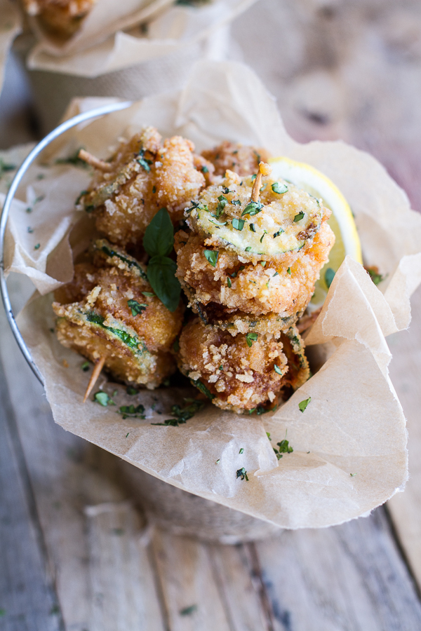 """<strong>Get the <a href=""""http://www.halfbakedharvest.com/mac-cheese-stuffed-fried-zucchini/"""" target=""""_blank"""">Mac And Cheese S"""