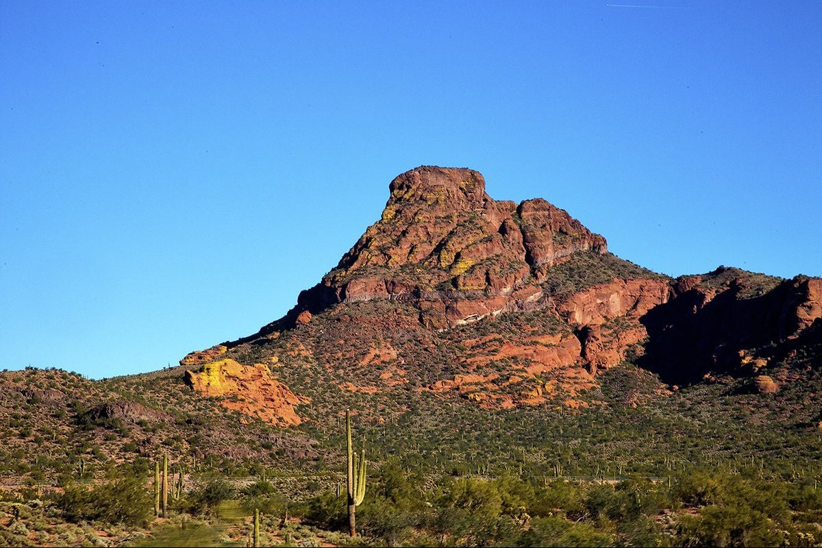 A sacred mountain on the Salt River reservation.