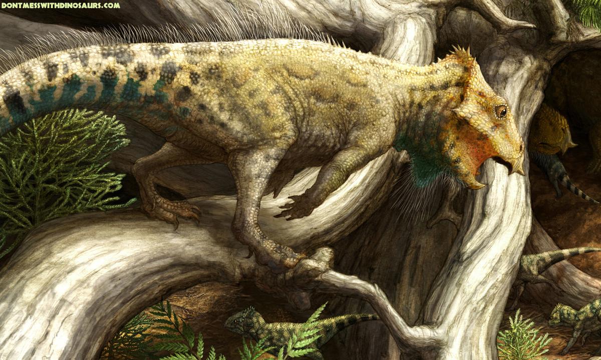 "Saluda al dinosaurio con cuernos más antiguo <a href=""http://www.huffingtonpost.com/2014/12/11/oldest-horned-dinosaur-montana"