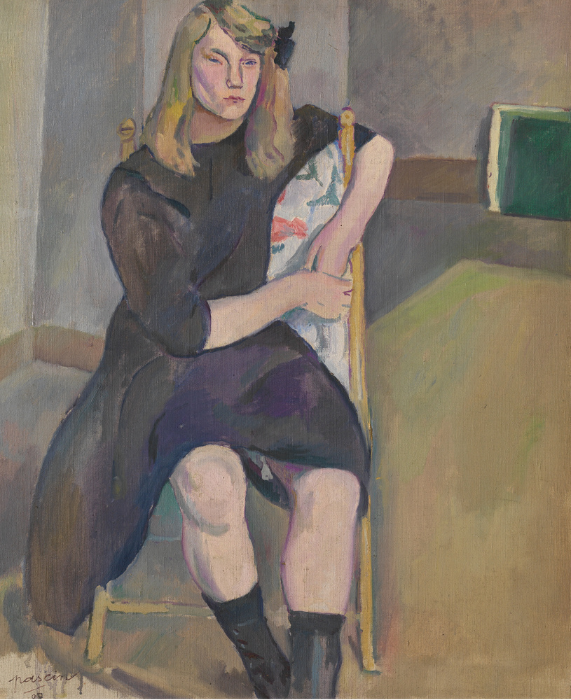 Sitzendes Mädchen, huile sur toile, 1908, n°inv. 2455, dim. 60.0 cm x 72.0 cm, Musée Royal des Beaux-Arts d'Anvers (KMSKA)