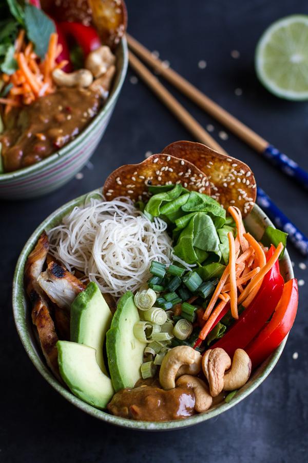 "<strong>Get the <a href=""http://www.halfbakedharvest.com/vietnamese-chicken-avocado-lemongrass-spring-roll-salad-hoisin-crack"