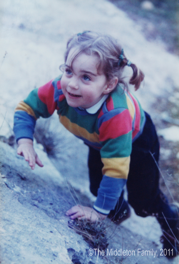 On a family holiday in the Lake District at age three.