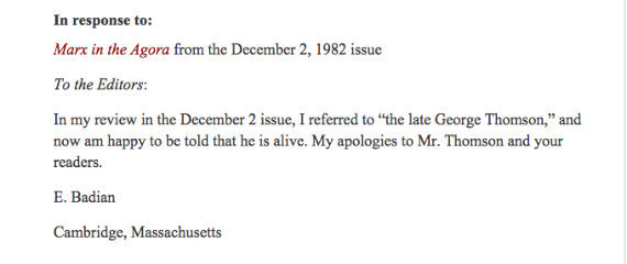 letter of correction